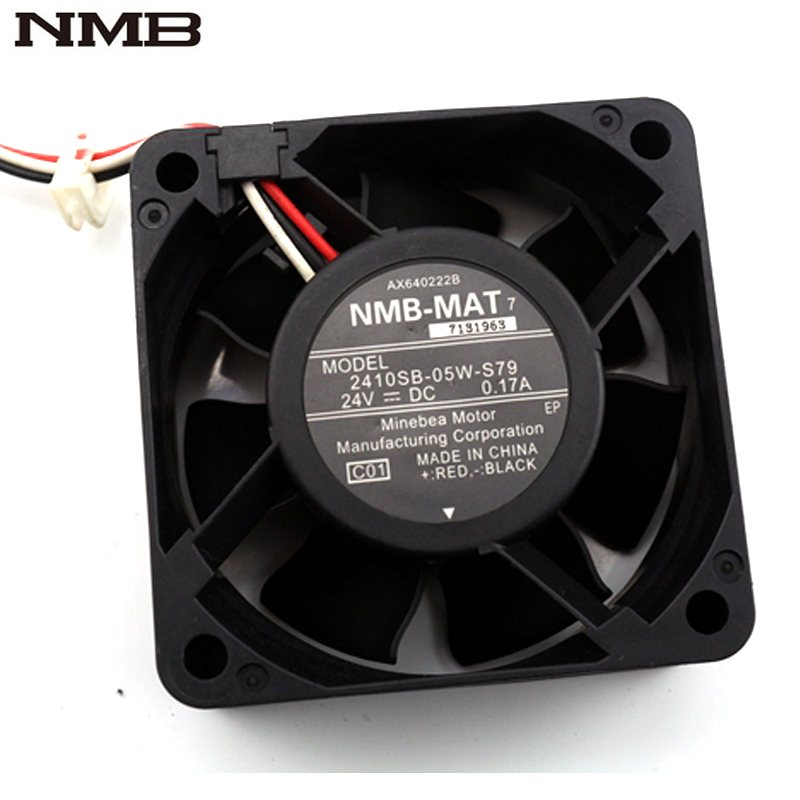 NMB 2410SB-05W-S79 DC 24V 0.17A inverter cooling fan