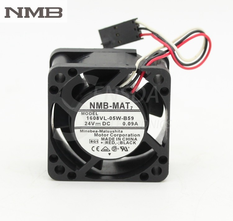NMB 1608VL-05W-B59  40*40*20mm DC24V 0.09A inverter cooling fan