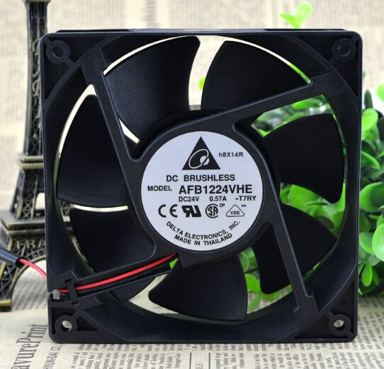 Delta AFB1224VHE 24V 0.57A 12cm120*120*38 2wire converter cooling fan
