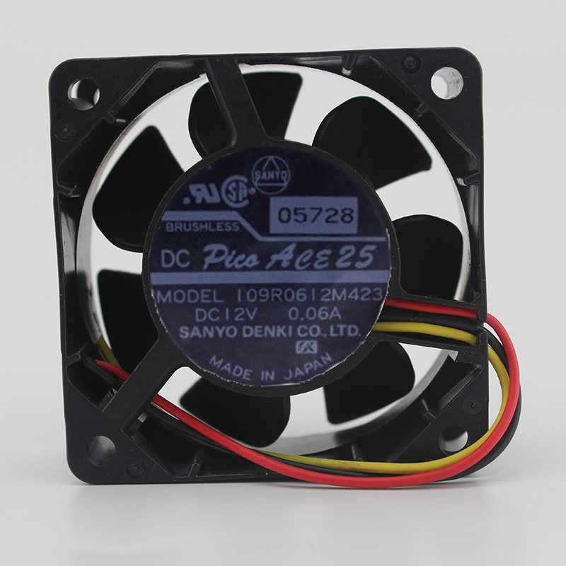 Sanyo 109R0612M423 12v 0.06A 6CM ultra-quiet speed cooling fan
