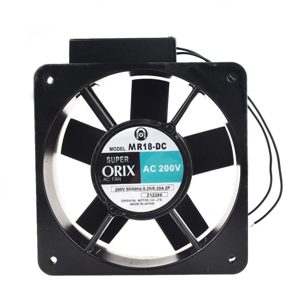 ORIX MR18-DC AC200V 0.25/0.3A 180*180*65mm 2pin cooling fan