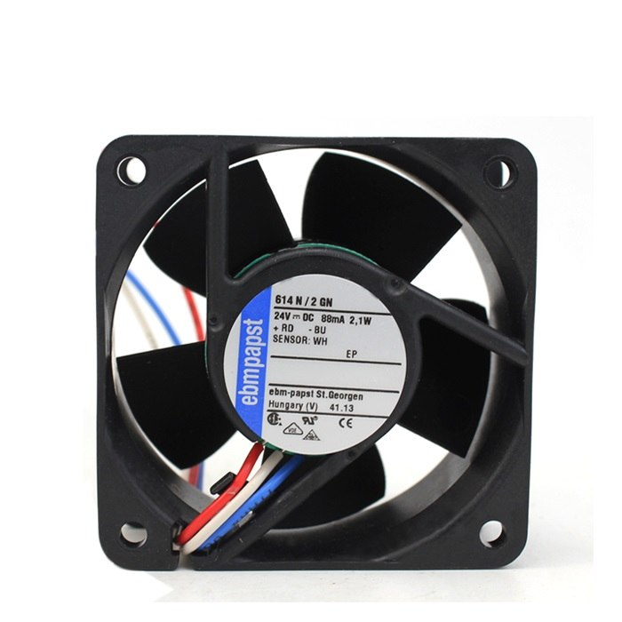 ebmpapst 614N/2GN 24V 88mA 2.1W 6cm axial cooling fan