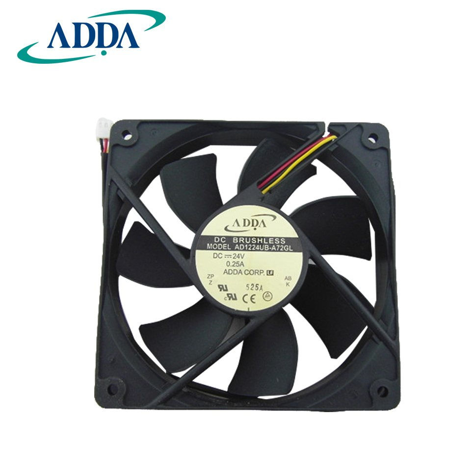 ADDA AD1224UB-A72GL 24V 120*120*25mm inverter cooling fan
