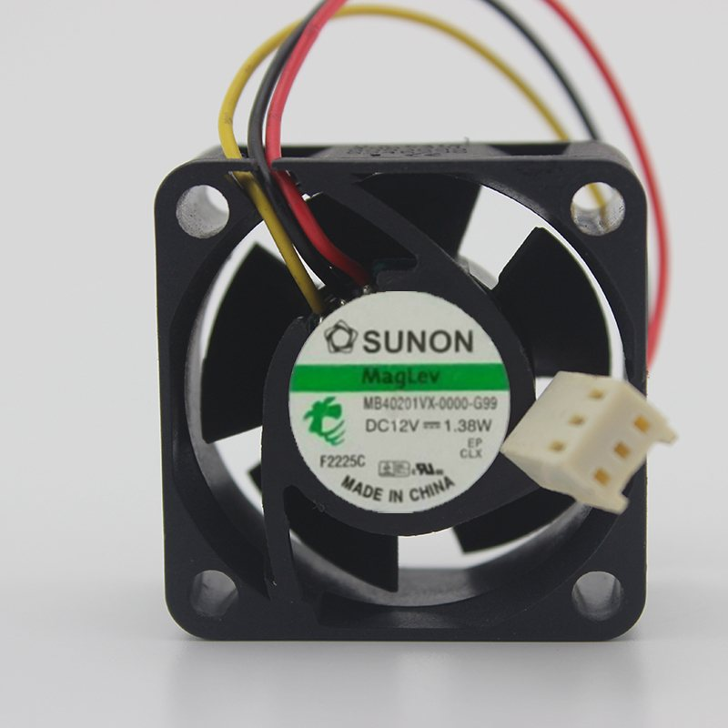 SUNON MB401VX-0000-G99 40*40*MM 4CM DC12V 1.38W Fluid Bearing Case Axial Cooling Fan
