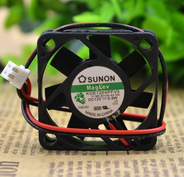 SUNON DE1204PFV3 4CM DC12V 1.1W 2-wire Silent Cooling Fan