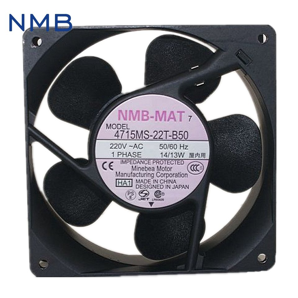 NMB 4715MS-22T-B50 220V UPS  Cabinet power supply cooling fan