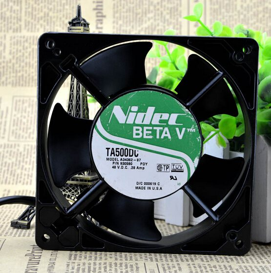 Nidec A34362-87 48V 127x127x38mm high temperature cooling fan