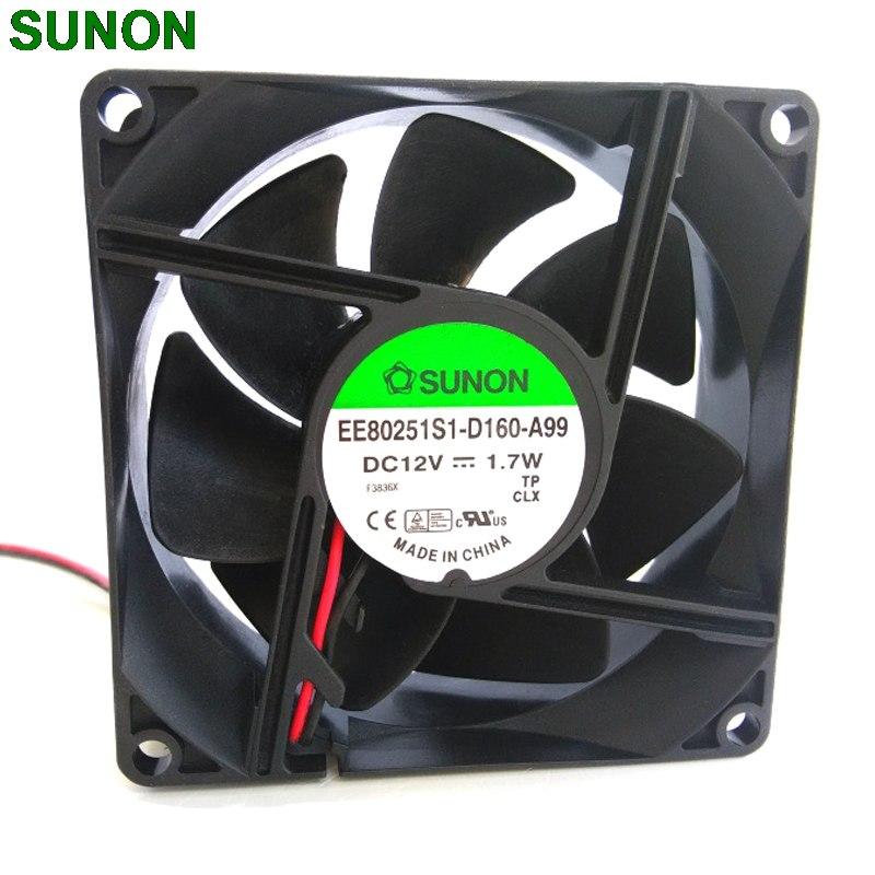 Sunon EE80251S1-D160-A99 80*80*25mm DC12V 1.7W silent 80mm cooling fan
