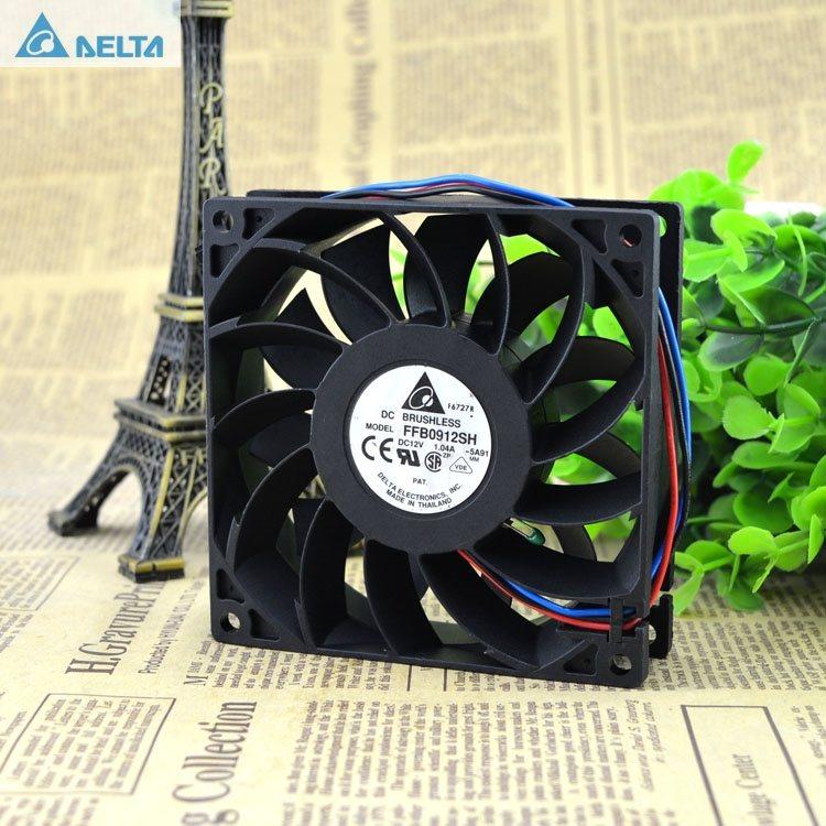 Delta FFB0912SH 12V 1.04A connector dual motor fan