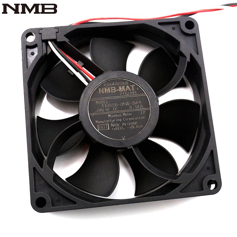 NMB  3108SB-05W-B49 8CM  DC24V 0.14A three line axial cooling fan