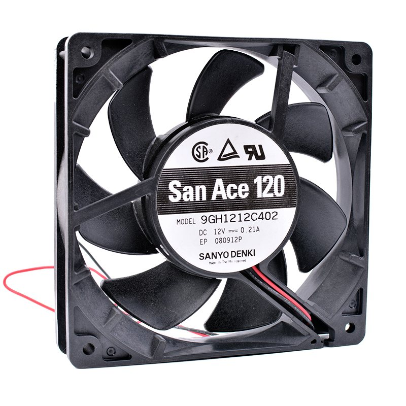 Sanyo 9GH1212C402 12CM  DC12V 0.21A server cooling fan
