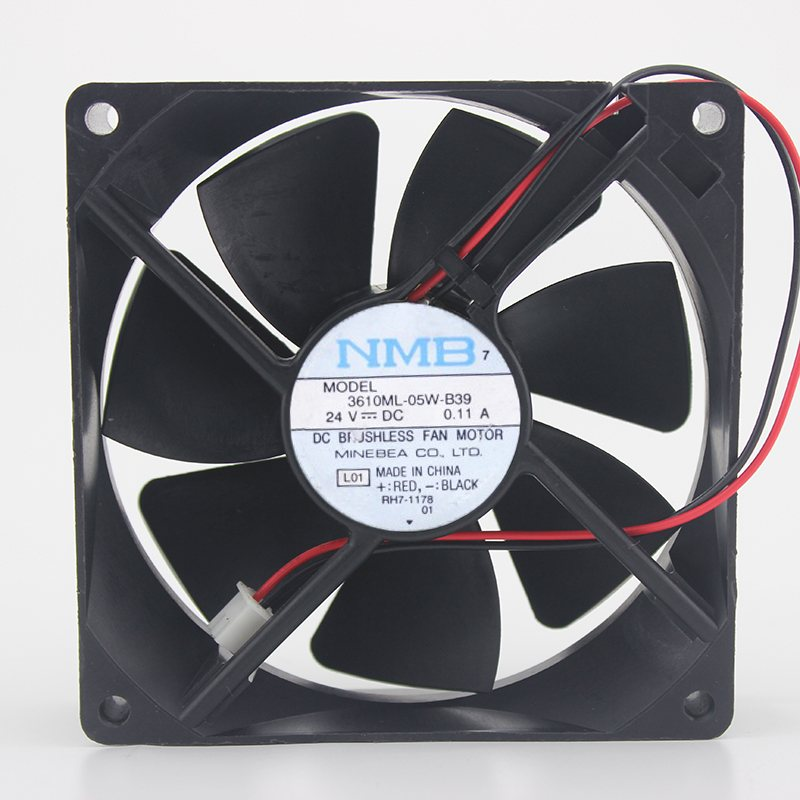 NMB 3610KL-05W-B39 24V 0.11A 9CM 3-wire ball chassis inverter fan