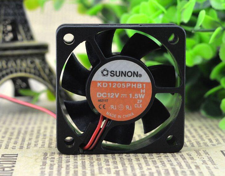 SUNON KD15PHB1 5CM 12V 1.5W 50*50*15 2 wire cooling fan