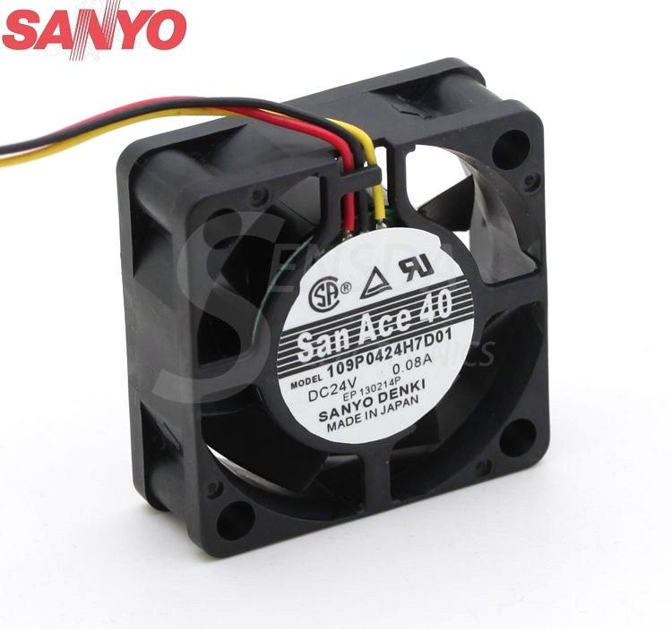 SANYO 109P0424H7D01  40mm DC24V 0.08A  cooling axial fans