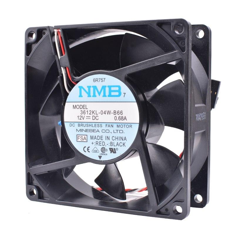 NMB 3612KL-04W-B66 12VDC 0.68A Double ball cooling fan