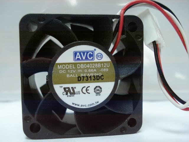 AVC DB04028B12U DC12V 0.66A double ball bearing server inverter cooling fan