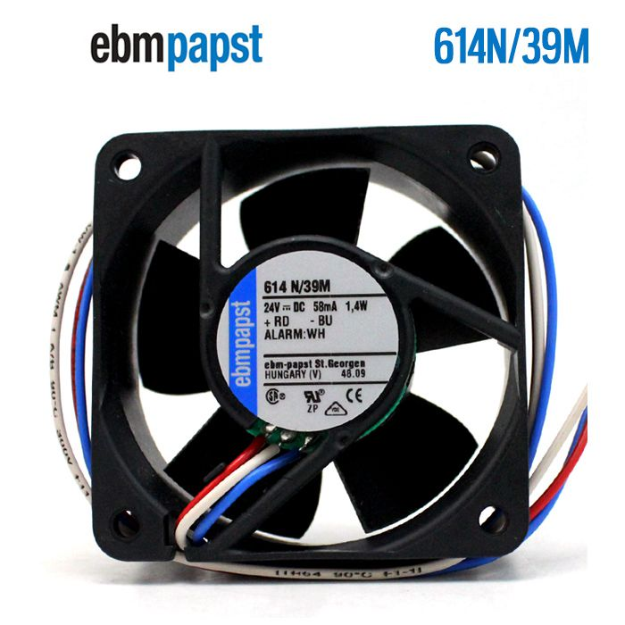 ebmpapst 614N/39M  DC24V 58mA 1.4W  Server Square fan