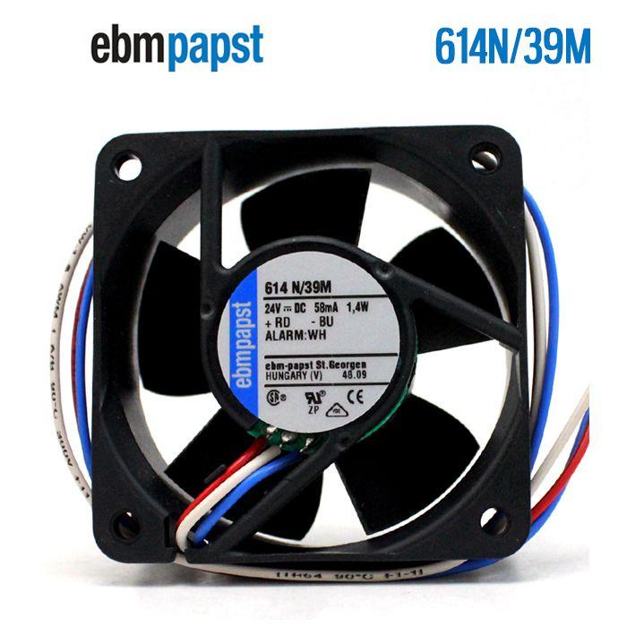 ebmpapst 614N/39M  DC24V 58mA 1.4W  Server Square fan