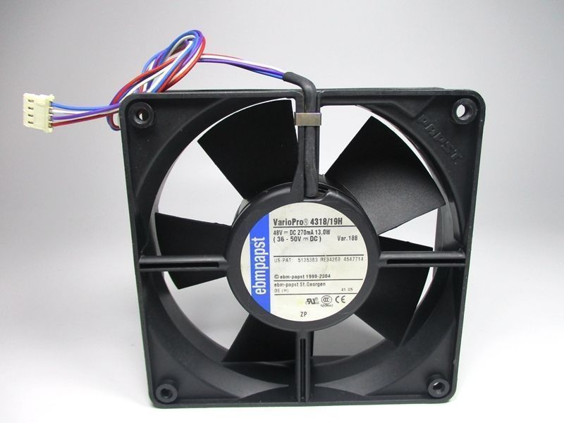Ebmpapst 4318/19H 48V 36V~50V 13W 4wire Cooling Fan