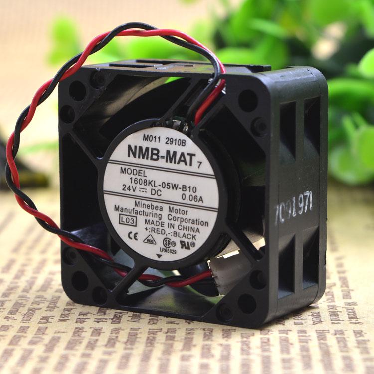 NMB 1608KL-05W-B10  24V 0.06A 4cm Double ball bearing cooling fan