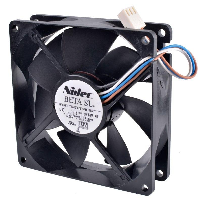 Nidec D09A-12PM 05A DC12V 0.10A Double ball bearing fan
