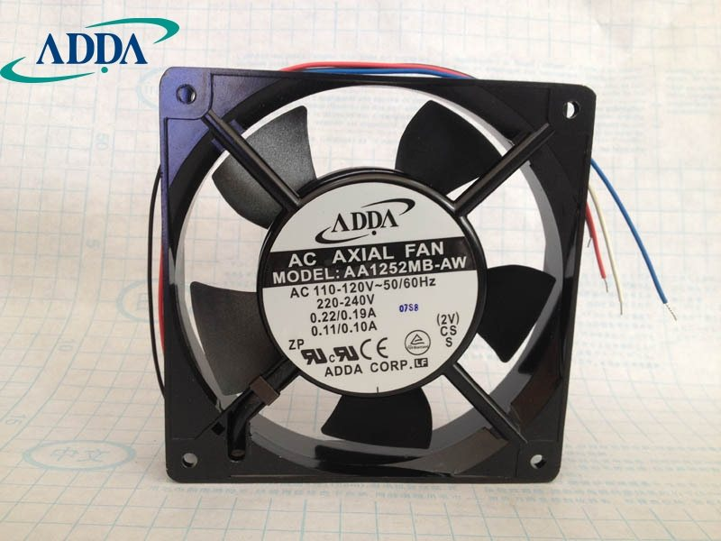 ADDA  AA1252MB-AW 4-wire speed control  AC cooling fan