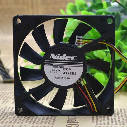 NIDEC D08R-24TM 01B (IX) 8CM 24V 0.13A  3Z08E2 3-Wire NBR Bearing Inverter Fan