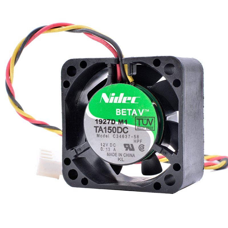 Nidec C34637-58 12V 0.13A Double ball bearing large air volume cooling fan