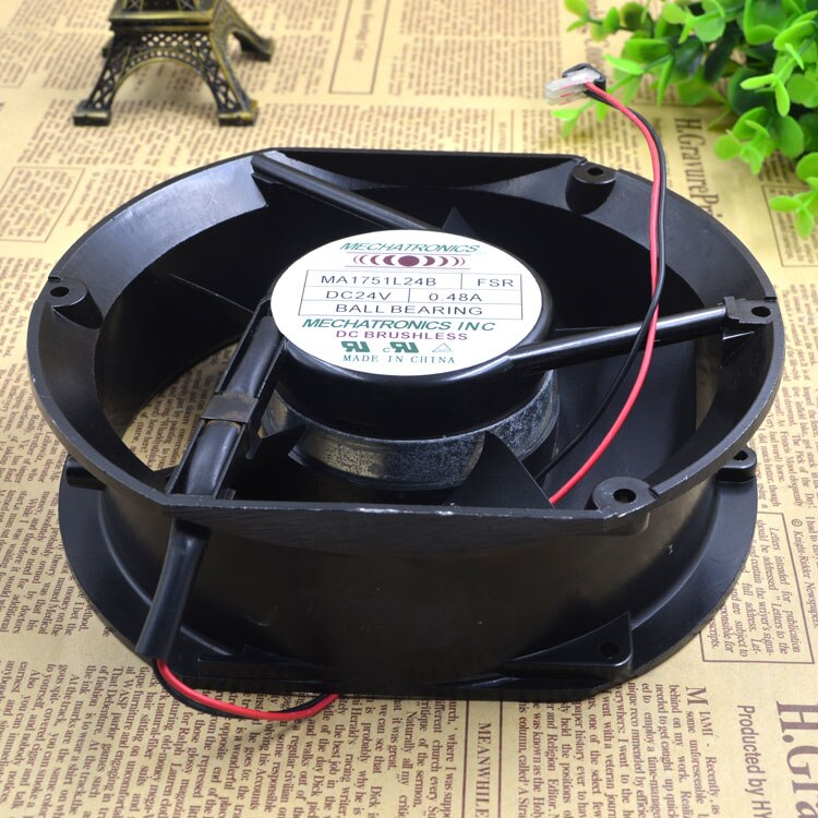 MECHATRONICS MA1751L24B  DC24V 0.48A  2-Wire Server Cooling  Fan