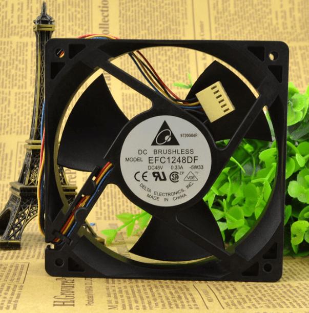 Delta EFC1248DF-5W33 DC48V 0.33A 120*120*38MM 4-line Cooling Fan