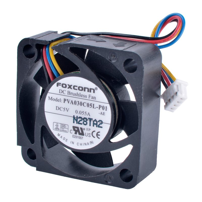 FOXCONN PVA030C05L-P01 DC5V 0.055A 4-wire Brushless fan