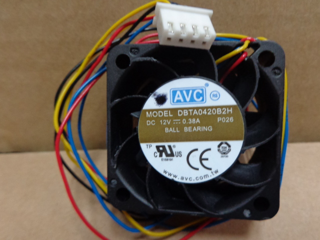 AVC DBTA0420B2H -P026 12V 0.38A  four-wire dual  cooling fan