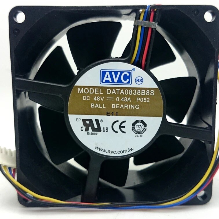 AVC DATA0838B8S DC 48V 0.48A 4-Pin sever axial cooling fan