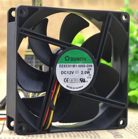 SUNON EE92251B1-0000-G99 92*92*25mm  DC12V 2.0W 3-wire cooling fan