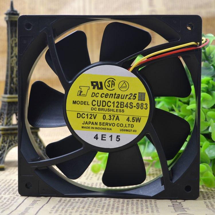 DC centaur25 CUDC12B4S-983 DC12V 0.37A 4.5W DC BRUSHLESS ball bearing fan