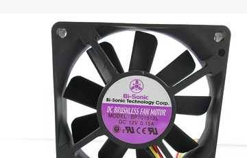 Bi-Sonic BS701512HH 7CM12V 0.34A 3wire BP701512L fan
