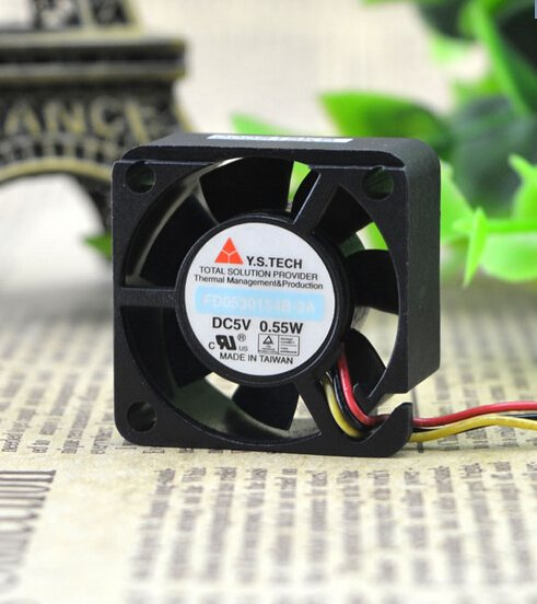 Y.S.TECH FD0530154B-2A DC5V 0.55W cooling fan