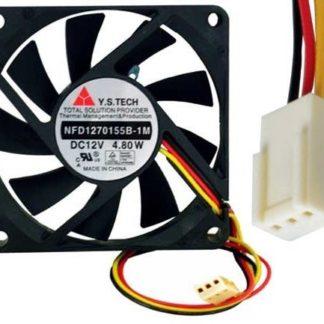 Y.S.Tech NFD1270155B-1M 12VDC 3pin ATX  2Ball Bearing Smart Fan