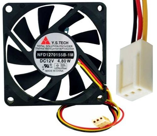 Y.S.Tech NFD1270155B-1M 12VDC 3pin ATX  2Ball Bearing Smart Fan