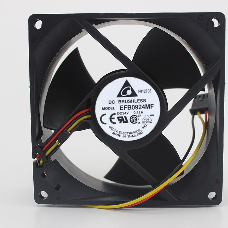 Delta EFB0924MF 9CM 24V 0.11A three-leaf double ball cooling fan