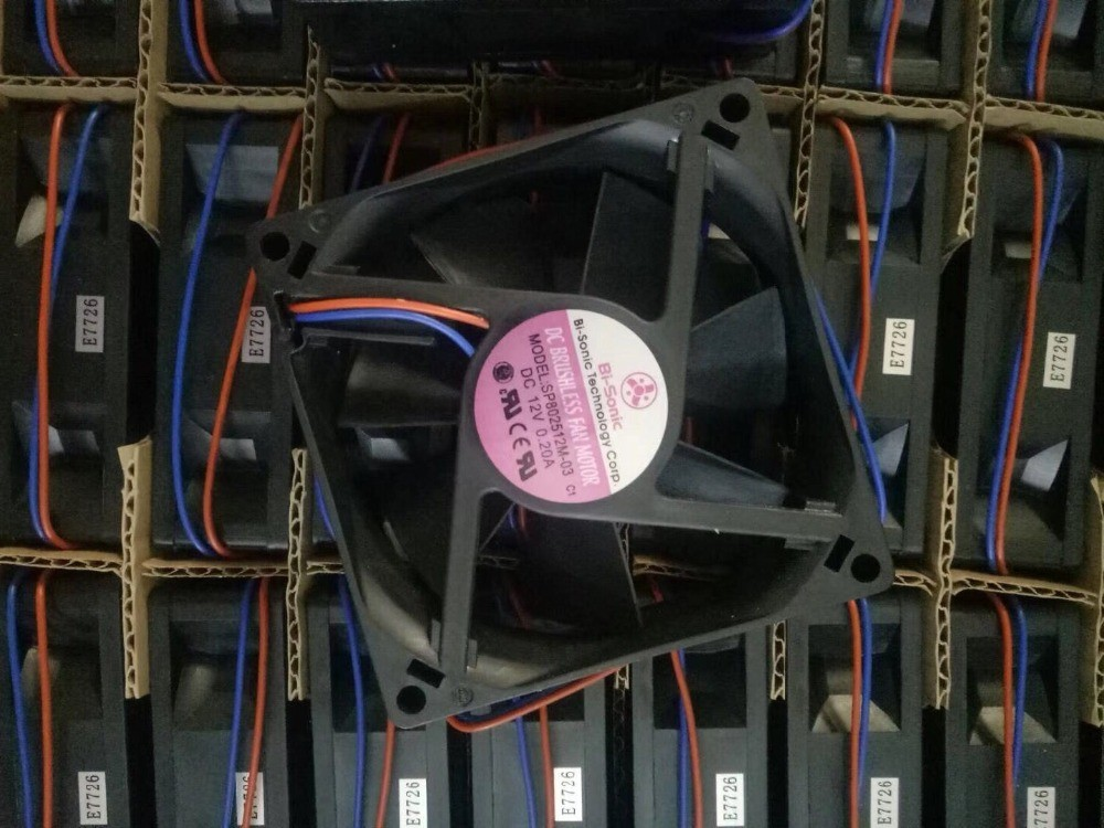 BI-SONIC SP802512M-03 DC 12V 0.20A 2-Wire Server Round Fan