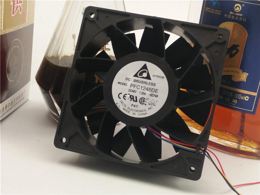 Delta PFC1248DE 48V 1.20A PFC1248DE 4Line fan