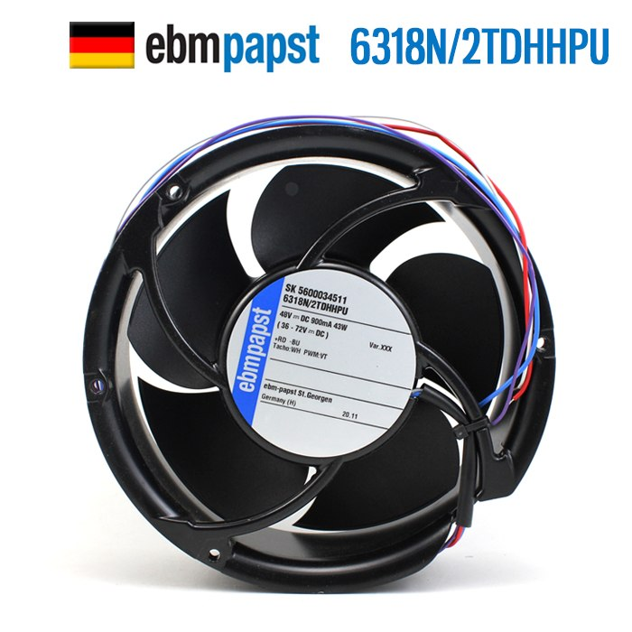 ebmpapst 6318N/2TDHHPU 48V 43W IP68 waterproof cooling fan