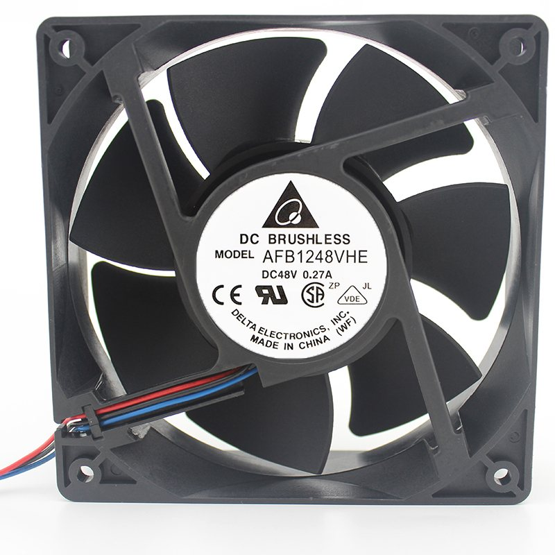 Delta AFB1248VHE 12cm 48V 0.27A 3-wire double ball server fan