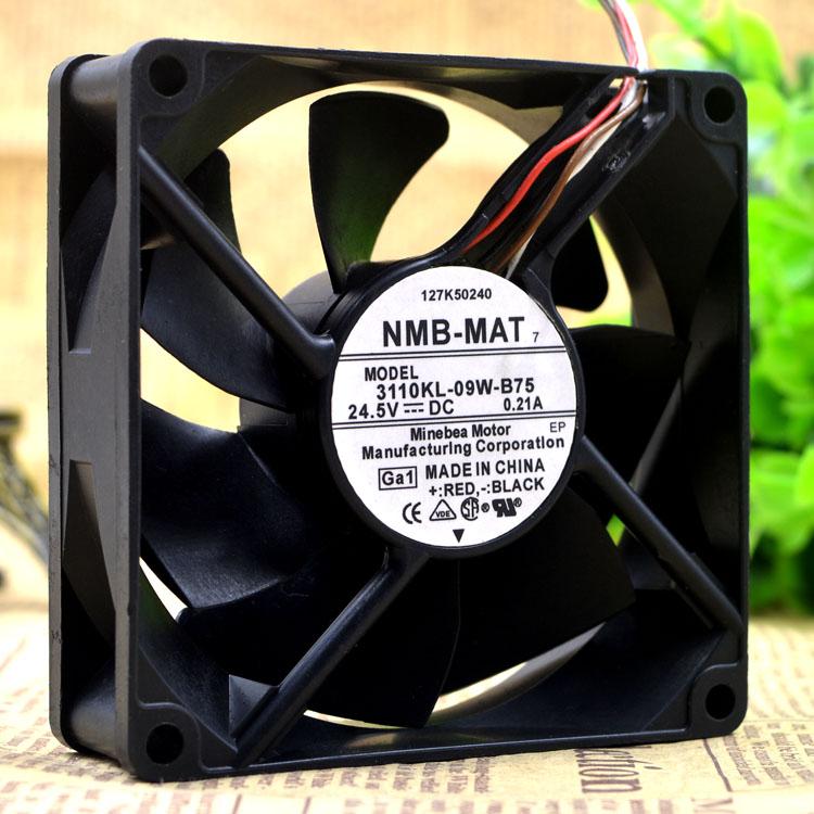NMB 3110KL-09W-B75 24.5V 0.21A 8CM  4-wire machine fan