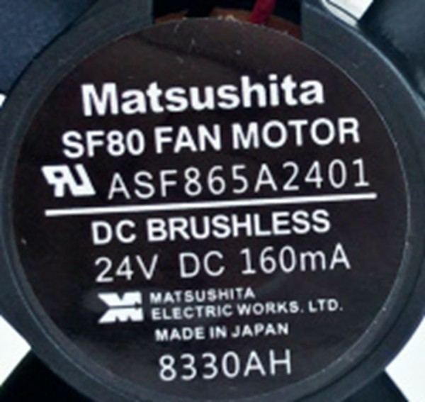 Matsushita  SF80 FAN MOTOR  ASF865A2401  24VDC 160mA Fan