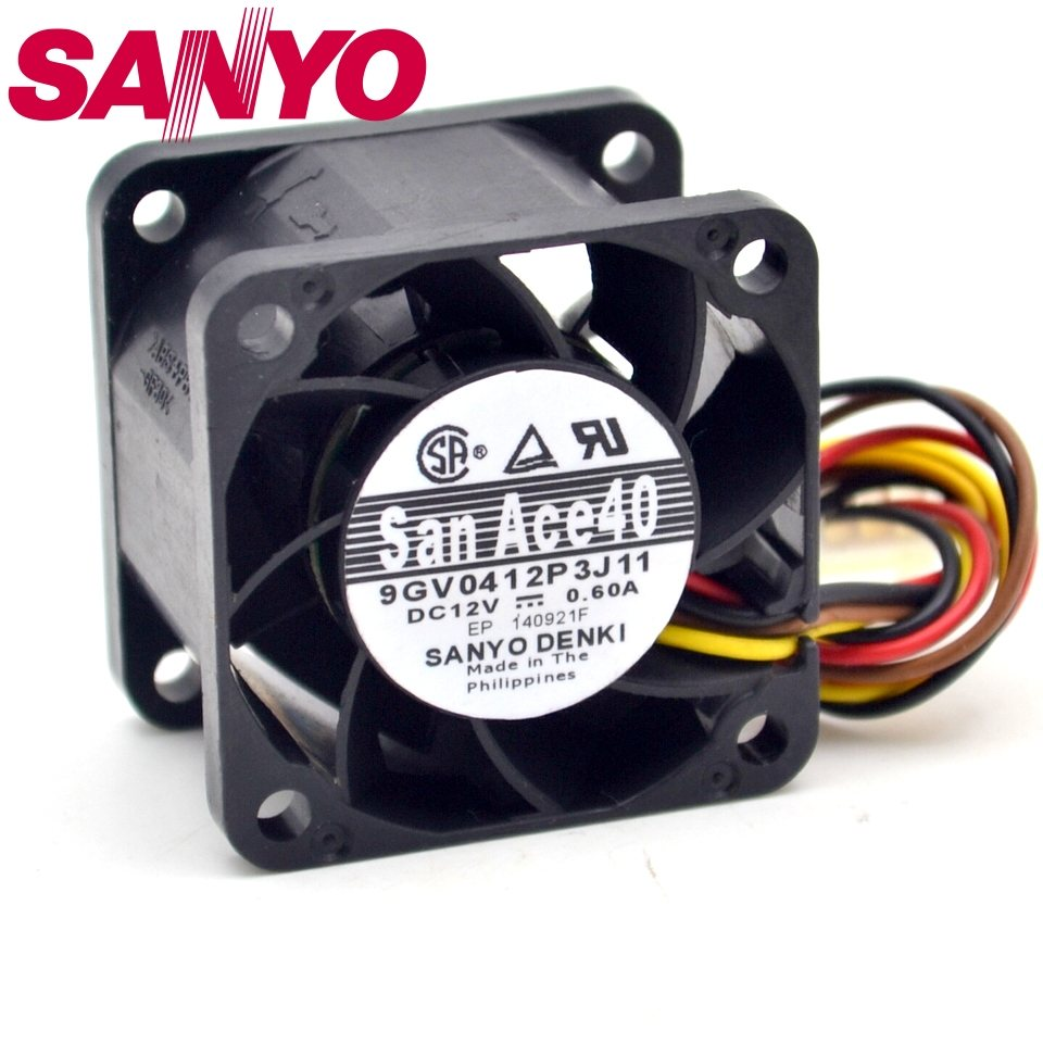 Sanyo 9GV0412P3J11 0.60A Gale PWM speed control air volume fan