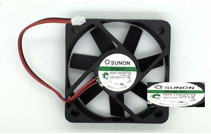 SUNON KDE15PFV2  5CM 12V 1.1W KDE15PFV2 2-line cooling fan