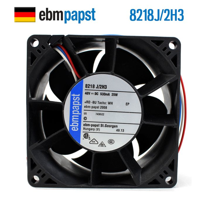 ebmpapst 8218J/2H3 48V 0.53A server DC cooling fan