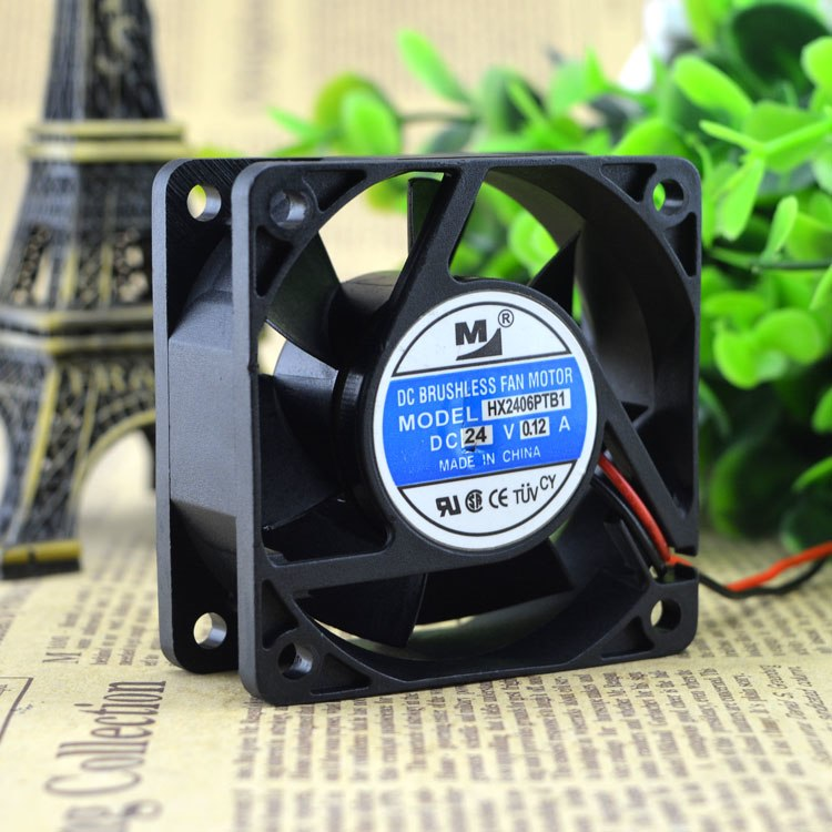 YM2406PTB1 DC24V 0.12A dual ball bearing cooling fan